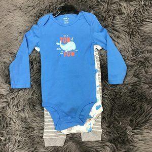 Carter's Babies 3 Piece Set | Blue | Whale | 24M
